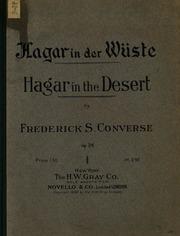 Hagar in der Wüste: Dramatische Erzählung für Mezzosopran und grosses ...