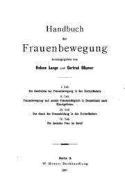 Handbuch der Frauenbewegung