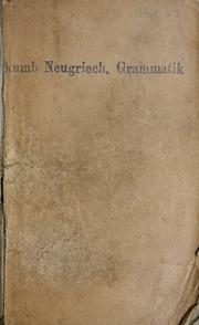 Handbuch der neugriechischen Volkssprache : Grammatik, Texte, Glossar