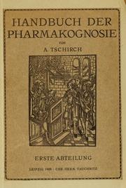 Vol v. 1 pt. 1: Handbuch der Pharmakognosie