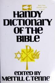 Handy Dictionary Of The Bible Tenney Merrill C Merrill Chapin
