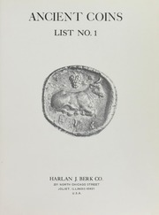 Harlan J. Berk Co. Ancient Coins List No. 1