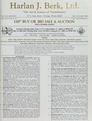 Harlan J. Berk, Ltd. 130th Buy or Bid Sale & Auction