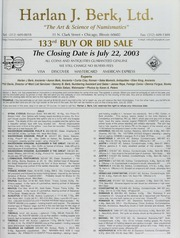 Harlan J. Berk, Ltd. 133rd Buy or Bid Sale