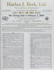 Harlan J. Berk, Ltd. 136th Buy or Bid Sale