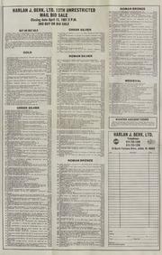 Harlan J. Berk, Ltd. 13th Unrestricted Mail Bid Sale