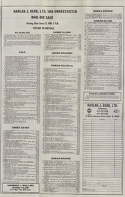 Harlan J. Berk, Ltd. 14th Unrestricted Mail Bid Sale