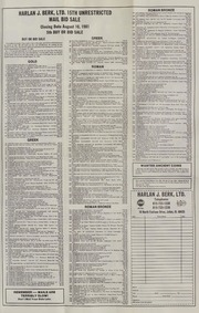 Harlan J. Berk, Ltd. 15th Unrestricted Mail Bid Sale