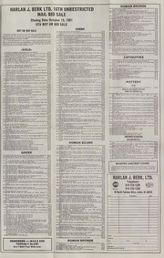 Harlan J. Berk, Ltd. 16th Unrestricted Mail Bid Sale