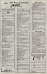 Harlan J. Berk, Ltd. 17th Unrestricted Mail Bid Sale