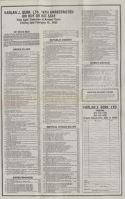 Harlan J. Berk, Ltd. 18th Unrestricted Mail Bid Sale