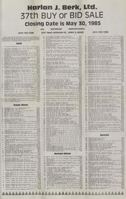 Harlan J. Berk, Ltd. 37th Buy or Bid Sale