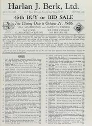 Harlan J. Berk, Ltd. 45th Buy or Bid Sale