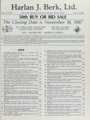 Harlan J. Berk, Ltd. 50th Buy or Bid Sale