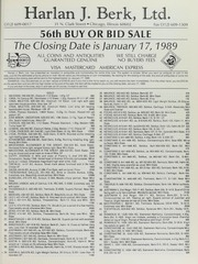 Harlan J. Berk, Ltd. 56th Buy or Bid Sale