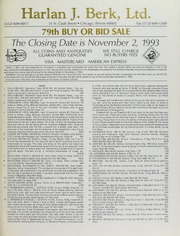 Harlan J. Berk, Ltd. 79th Buy or Bid Sale
