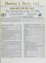Harlan J. Berk, Ltd. 82nd Buy or Bid Sale