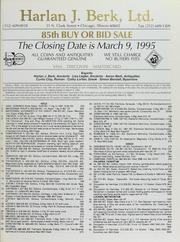 Harlan J. Berk, Ltd. 85th Buy or Bid Sale