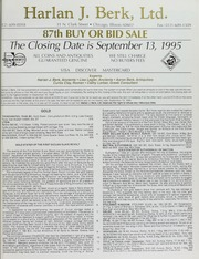 Harlan J. Berk, Ltd. 87th Buy or Bid Sale