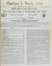 Harlan J. Berk, Ltd. 88th Buy or Bid Sale