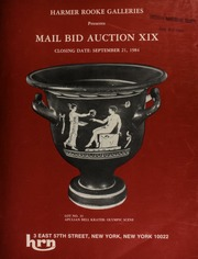 Harmer Rooke Galleries presents mail bid auction XIX. [09/21/1984]