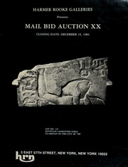 Harmer Rooke Galleries presents mail bid auction XX. [12/19/1984]