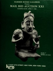 Harmer Rooke Galleries presents mail bid auction XXI. [04/05/1985]