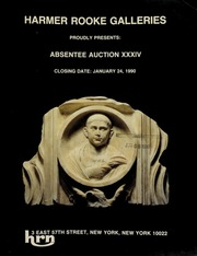 Harmer Rooke Galleries proudly presents absentee auction XXXIV. [01/24/1990]