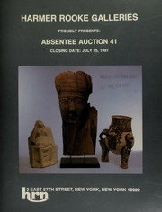 Harmer Rooke Galleries proudly presents absentee auction 41. [07/25/1991]
