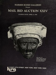 Harmer Rooke Galleries presents mail bid auction XXIV. [04/08/1986]