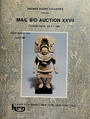 Harmer Rooke Galleries presents mail bid auction XXVII. [07/01/1987]