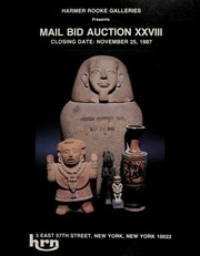 Harmer Rooke Galleries presents mail bid auction XXVIII. [11/25/1987]