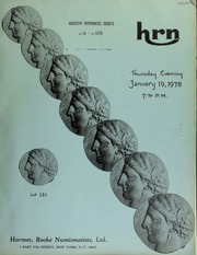 Harmer, Rooke Numismatists, Ltd. will sell at public auction foreign gold coins, crowns, and minors, U.S. fractional, and other lots. [01/19/1978]