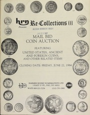 Harmer Rooke Numismatists, Ltd. presents re-collections III : mail bid coin auction featuring United States, ancient, and foreign coins ... [06/22/1984]