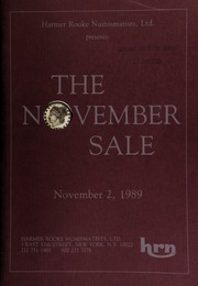 Harmer Rooke Numismatists, Ltd. presents the November sale ... [11/02/1989]