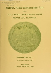 Harmer, Rooke Numismatists, Ltd. presents U.S., Canada, and foreign coins, medals and exonumia. [03/25/1971]
