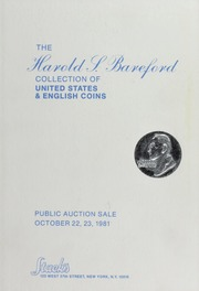 The Harold L. Bareford Collection of United States & English Coins