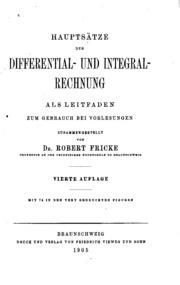 Integral Rechnung : haupts tze der differential und integral rechnung als leitfaden zum gebrauch bei vorlesungen ~ Themetempest.com Abrechnung