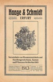Vol Fall 1913: Hauptverzeichnis über Samen und Pflanzen