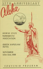 Hawaii State Numismatic Association: 25th Anniversary Coin Show
