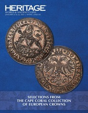 Hertage World & Ancient Coins Selections from the Cape Coral Collection of European Crowns