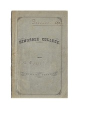 Hiwassee College Catalog 1876-78