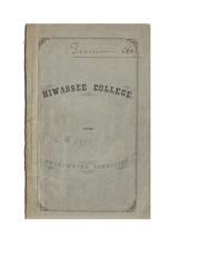 Hiwassee College Catalog 1876-78