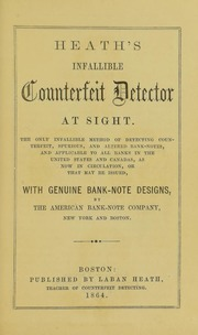 Heath's Infallible Counterfeit Detector at Sight (1-P-1.0)