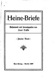 Vol 2: Heine-briefe: Gesammelt und herausgegeben von Hans Daffis