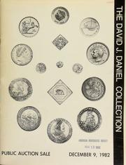 Herbert I. Melnick, Inc. proudly presents the David J. Daniel Collection of world coins & medals ... [12/09/1982]
