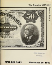 Herbert I. Melnick, Inc. proudly presents the Stanley Gibbons collection -- Part V -- featuring banknotes of the world ... military notes ... [12/20/1982]