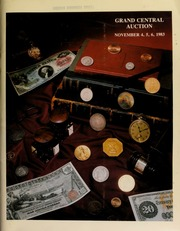 Herbert I. Melnick, Inc. proudly presents the Grand Central collection ... in conjuction with the Grand Central Coin Convention, and the Long Island Coin Club ... [11/04-06/1983] (pg. 153)