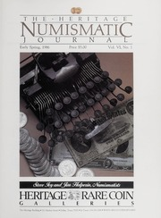 The Heritage Numismatic Journal: Early Spring 1986