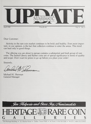 The Heritage Numismatic Journal Update: April 1985